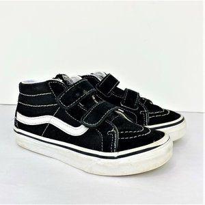 Vans Kids Black Sk8 Mid Reissue V Velcro, 13.5